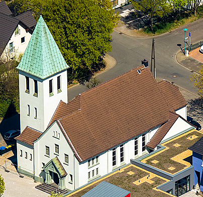 Die Luther-Kirche in Duisburg-Obermarxloh