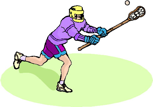 Zeichnung Lacrosse-Spieler mit Schläger