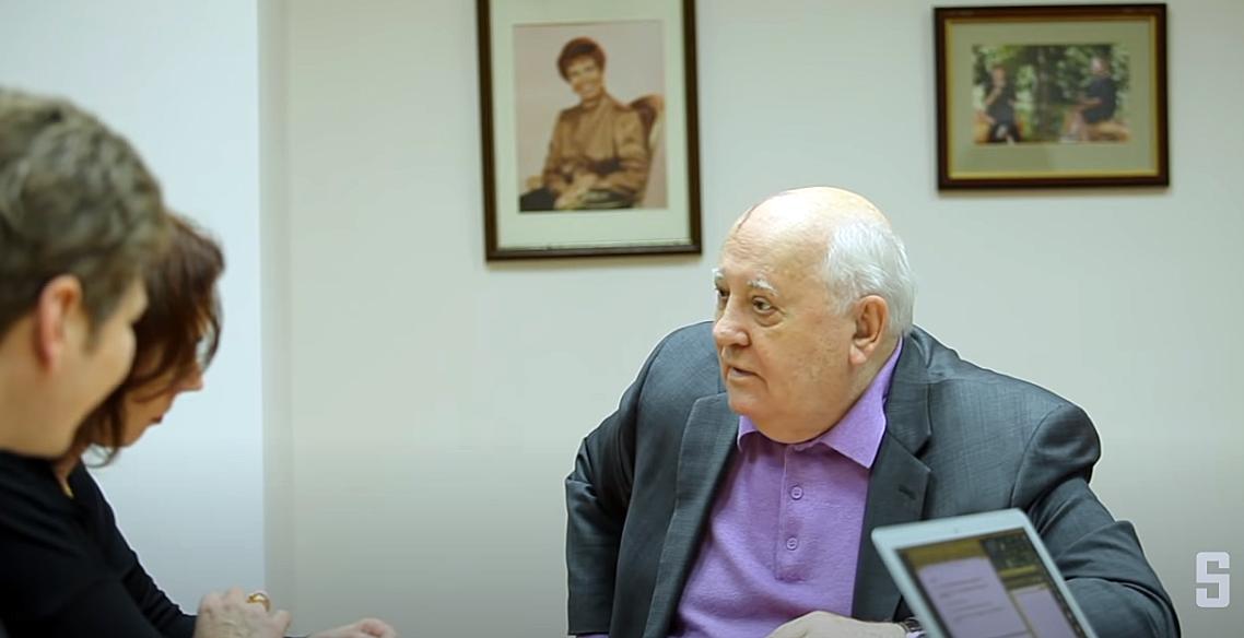 Gorbatschow im Interview mit dem Spiegel