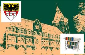 Grafik Rathaus mit Wappen Duisburg und Logo Archiv