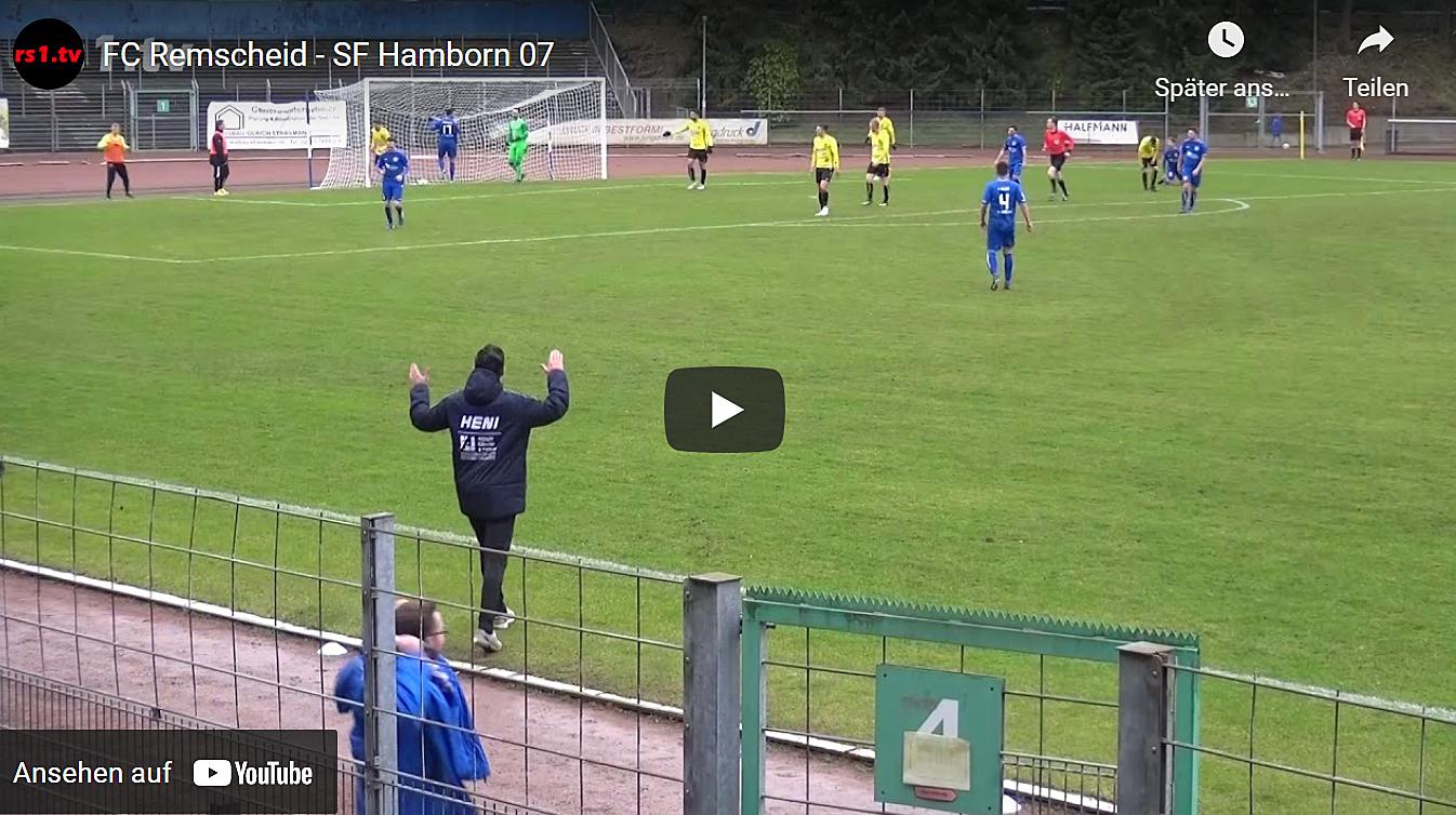 Foto vom Fußballspiel FC Remscheid - Hamborn 07