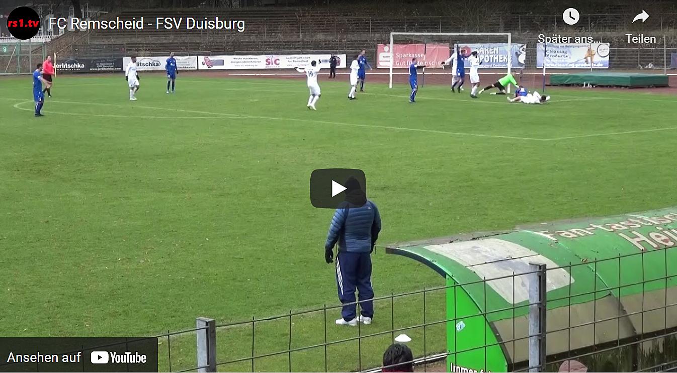 Foto vom Spiel FC Remscheid - FSV Duisburg