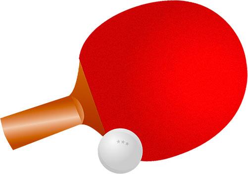 Grafik Tischtennis-Schläger