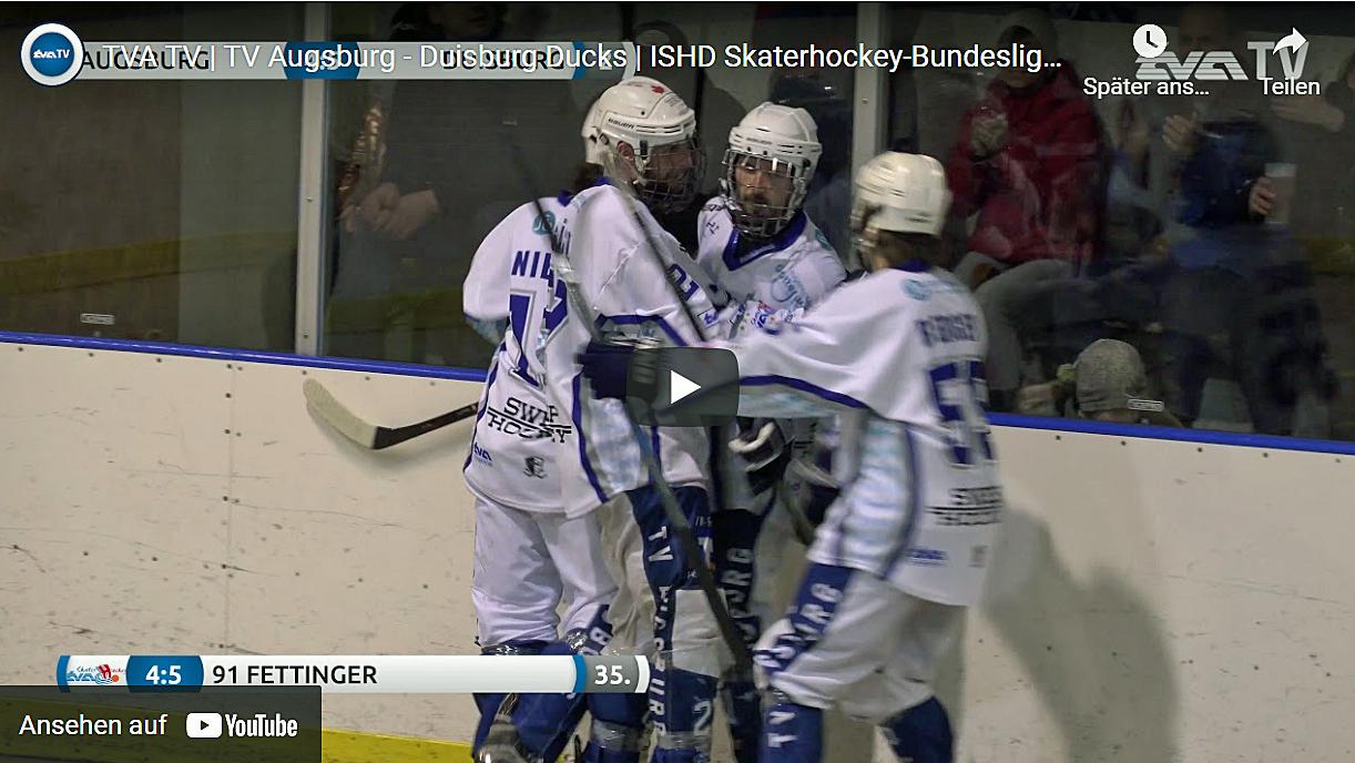 Video Skaterhockey-Bundesliga 2019 Augsburg - Duisburg Ducks