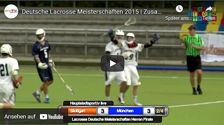 Video Deutsche Lacrosse Meisterschaften 2015