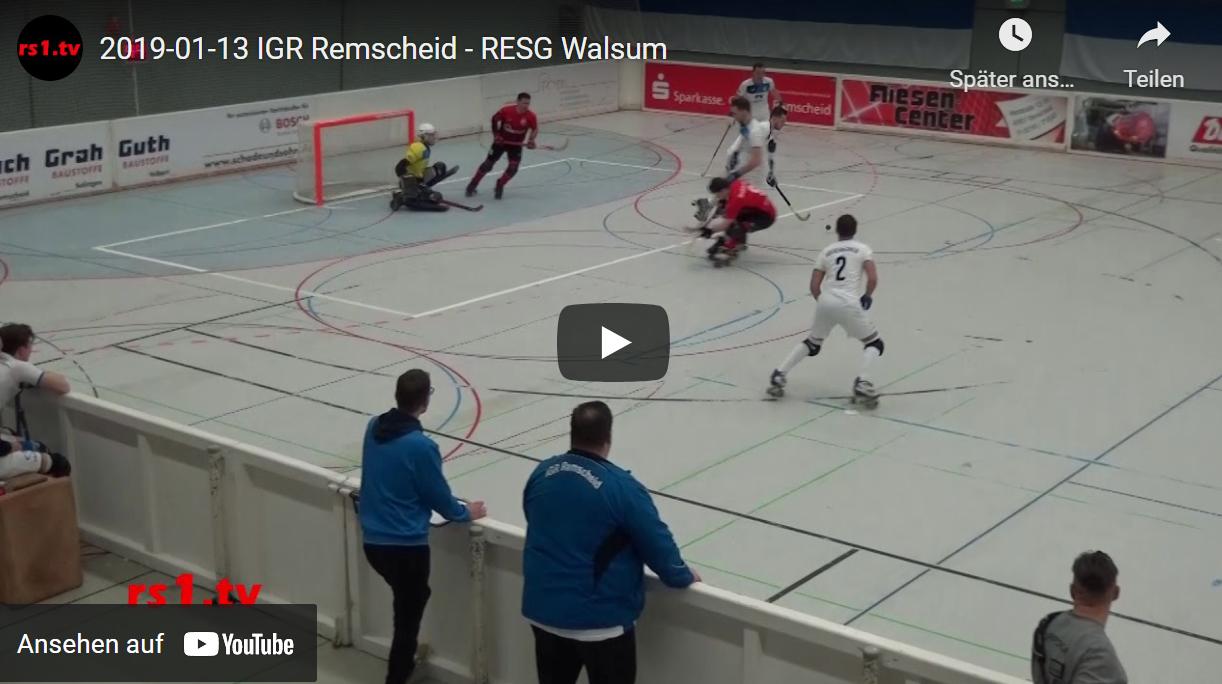 Video Rollhockey-Bundesliga 2018/19 Remscheid - Walsum