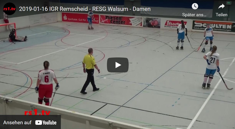 Video Rollhockey-Damen-Bundesliga 2018/19 Remscheid - Walsum