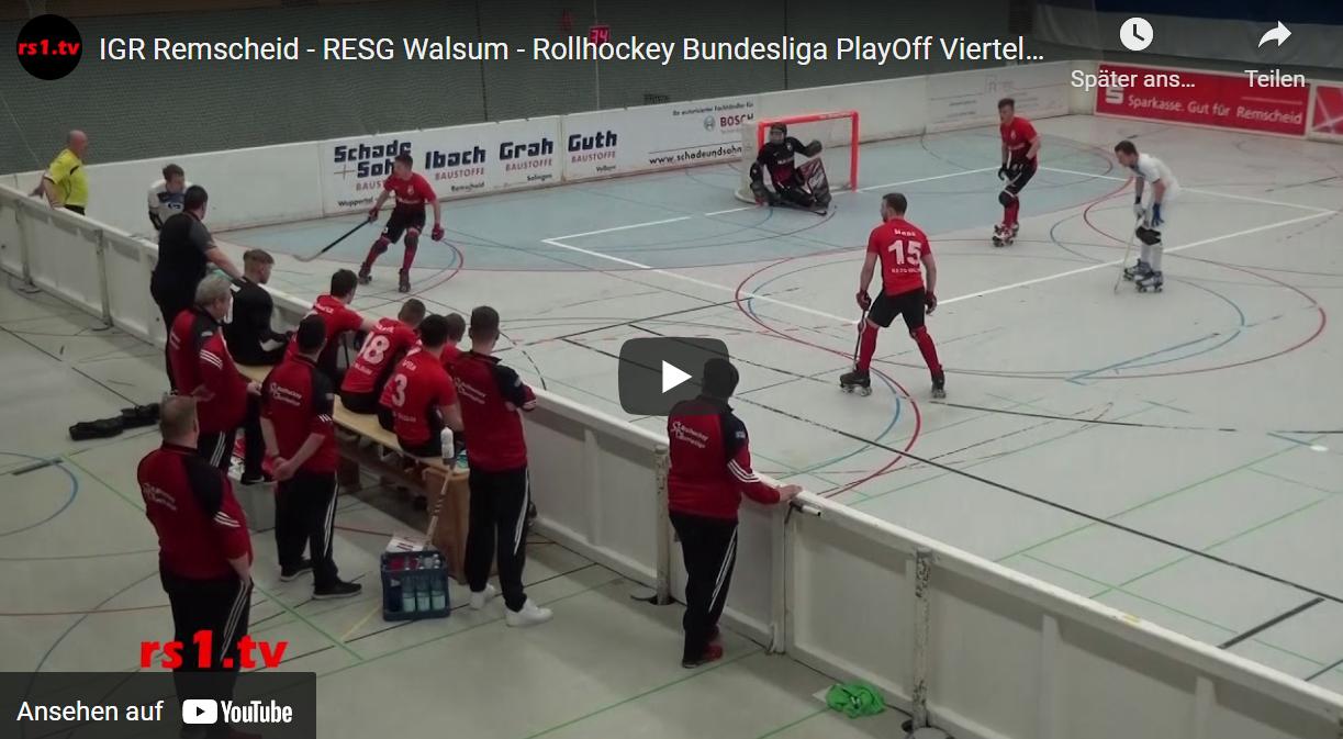 Video Rollhockey Remscheid - Walsum Playoff-Viertelfinale 2018/19