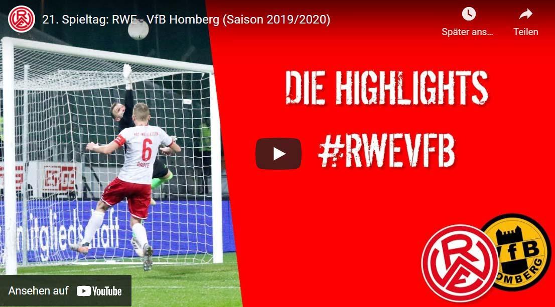 zum Video RW Essen - VfB Homberg