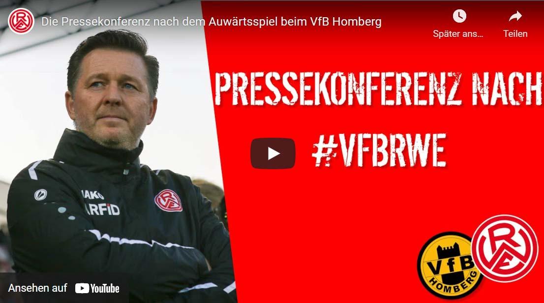zum Video Pressekonferenz VFB Homberg-RW Essen